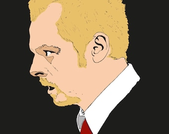 Simon Pegg from Shaun Of The Dead art print