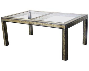Beautiful Acid Etched Bernhard Rohne for Mastercraft Dining Table