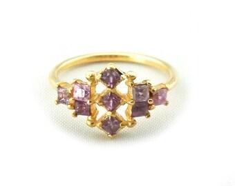 lavender sapphire ring