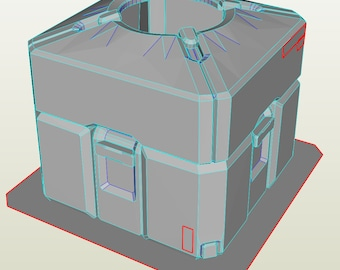 Overwatch LootBox Base 3D Model