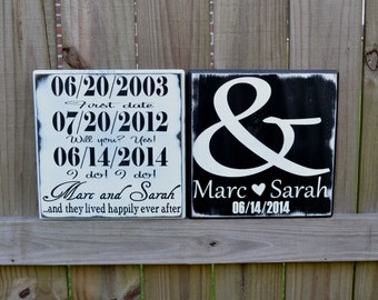 Important Dates Wedding Sign, Important Dates Engagement Gift, Personalized Signs, Personalized Gift, Custom Wood Sign, Wedding Date Sign