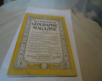 Vintage The National Geographic Magazine April 1936 Vol LXIX Number Four, Coca Cola Ad On Back,  collectable
