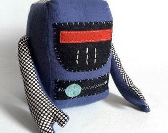 Buzz the Robot / Stuffed Toy / Plush Toy / Plush Robot / Science Art Doll / Handmade