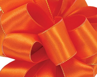 "Orange Ribbon 1.5"" 25 Yards Satin Offray Decorative Edge Fall Wedding Ribbon Bow Ribbon Craft Ribbons Gift Packaging Fall Wreath Bow"