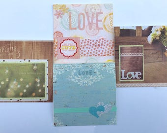 All About Love - handmade greeting cards - set of four