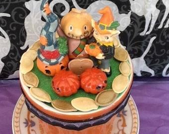 Mini Pumpkin Patch,Halloween, mini figurines,handmade, vintage parts or pieces,handmade