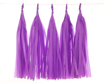 Tissue Paper Tassel, Purple Tassel Garland, Birthday Decoration, Sweet 16 Backdrop, Bridal Shower Decor, Graduation Party, Purple Wedding