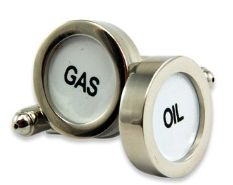 Gas & Oil Cufflinks Cash Register Key Cufflinks - Oil and Gas - by Gwen DELICIOUS Jewelry Design