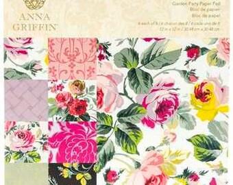 Anna Griffin - 12 x 12 Paper Pad - Garden Party