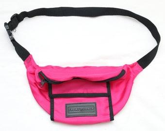 """Rare 90's Vintage """"FRONT RUNNER"""" Pink 2-Pocket Fanny Pack"""