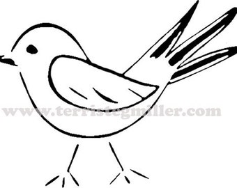 Thermofax Screen - Bird 1