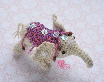 Crochet elephant pattern, crochet white elephant, amigurumi elephant pattern, elephant crochet pattern