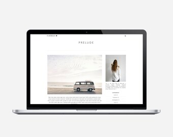 PRELUDE - Premade Blogger Template - Very Simple, Minimalist, Affordable