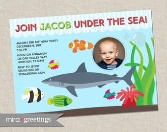 Aquarium Birthday Party Invitation - Printable Digital File