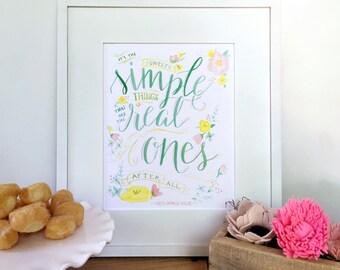 sweet simple things in life, watercolor print