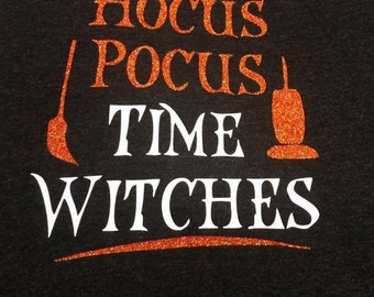 It's Hocus Pocus Time Witches V-Neck Shirt