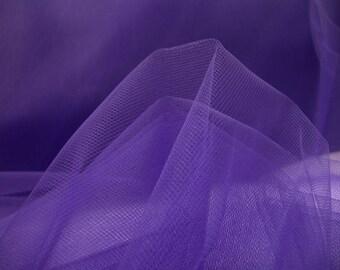 soft tulle purple width 300 cm