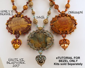 eTUTORIAL for Caramel's Claws Necklace WITHOUT ACORN INSTRUCTIONS for Advanced Beaders