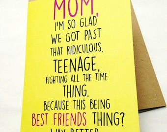 Mom Card - Mother's Day Card - Mom Birthday Card - Funny Card - Card for Mother - Mother's Day