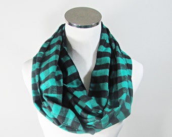 SALE.SCARF SALE.Green check Scarf.Green Scarf.Green Infinity Scarf. Teal Chevron Scarf.Green Scarf. Scarf.loop Scarf.