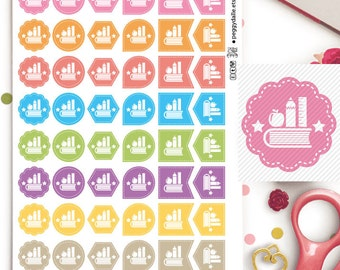 Class Lecture Exam Assorted Shapes Planner Stickers | School | College | Uni | Reminders | Hexagons
