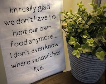 Sandwiches Towel