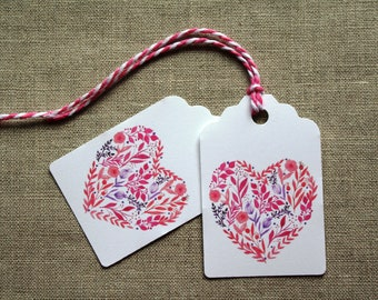 All Occasion gift tags, Valentine's Day gift tags, gift tag, heart gift tags, anniversary gift tags, watercolor gift tags, wedding gift tags