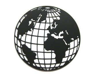 Extra Large Globe Paper Cut Out set of 4