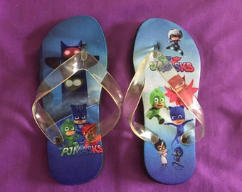 PJ Masks Flip Flops / PJ Masks Slippers - Kids size M