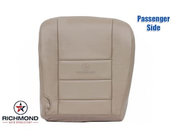 2003 2004 Ford F-250 F-350 Lariat Leather Seat Cover: Passenger Bottom, Tan