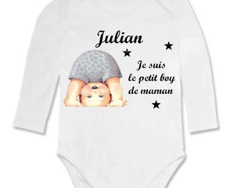 Bodysuit I'm the little boy... personalized with name