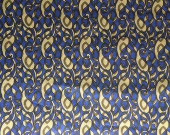 Fabric pattern casmiri blue & green cotton