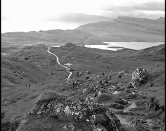 Isle of Skye, Mountain, Scottish Islands, Scottish Landscape, Scotland, Black & White, Photography