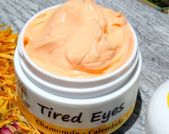 Shooting Tired Eyes/Eye crem with Calendula & Chamomile - Calming Eye Cream - Soothing Eye Solution/ Natural Handmade SkinCare