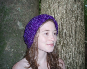 PURPLE HAZE KNITTED Slouch Hat