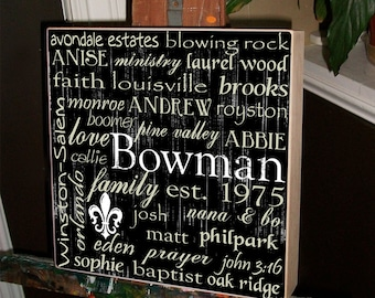 Wedding Gift, Parents Anniversary Gift, Mother of the Bride, Father of the Bride, Personalized Wedding Gift, Wedding Sign, Subway Art 20x20