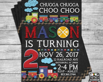 Chugga Chugga Choo Choo Train Invitation!