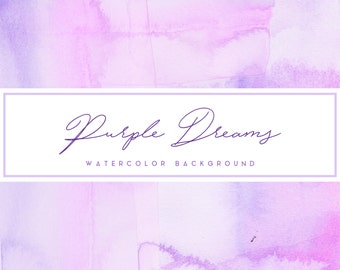 Hand-painted Watercolor Background//Purple Background// Watercolor Digital Art//