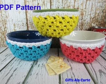 DIY Soup Bowl Pattern, PDF Digital Instant Download Pattern, Crochet Bowl Cozy Pattern