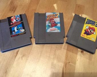 Super Mario 1, 2, and 3 | NES Mario Game Lot | Nintendo Video Games | Super Mario Bros. | Super Mario 2 | Super Mario 3