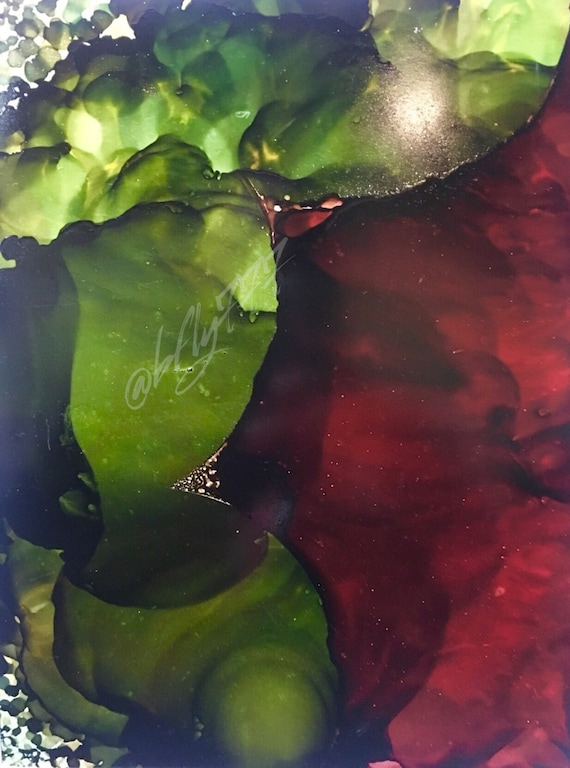 """Abstract Alcohol Ink Original: """"Calming Anger"""""""