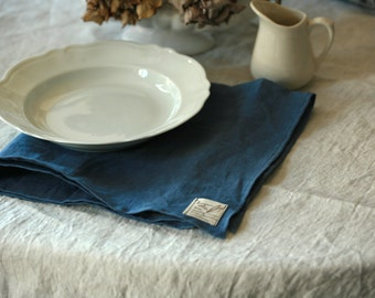 Washed linen table napkins, various sizes and colors, sets of 4,6,8 and 12