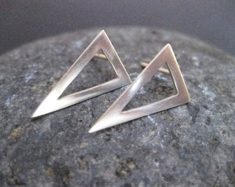 Pennant Triangle Stud / Post Earrings