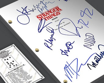STRANGER THINGS Tv Script Pilot Episode Screenplay - Signed Autograph Reprint - Winona Ryder, David Harbour, Mille Bobby Brown