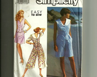 Vintage Simplicity Misses' /Miss Petite Culottes inTwo Lengths and Top Pattern 7178