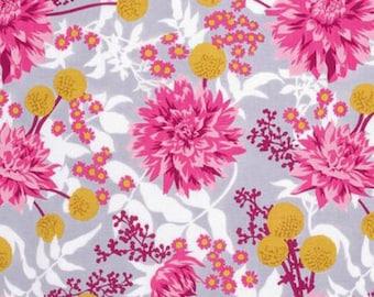 Joel Dewberry Fabric, Wander, Moon Garden, Rosetta, Floral, cotton quilting fabric, By the Yard