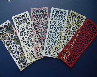 Lace Die Cut Striplet / Bookmark From Bazzill Cardstock (230)