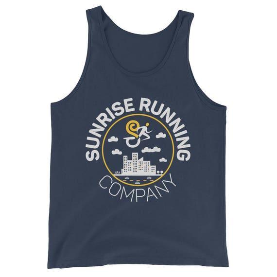 Sunrise Running Company City Runner - Unisex Tank Top - Triblend Singlet