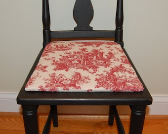 Low Back Chair with Upholstered Seat