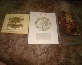 SALE Lot of 3 Vintage Calanders (1928,1944,1954)